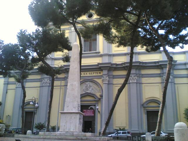 facciata chiesa santa maria degli angeli a Pizzofalcone