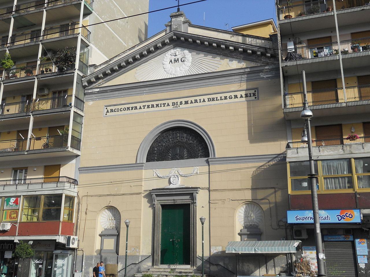 facciata chiesa santa maria delle grazie a Piazza Cavour