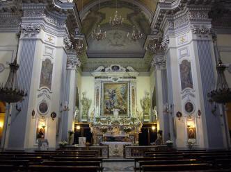 interno chiesa dell'ascensione a chiaia a napoli