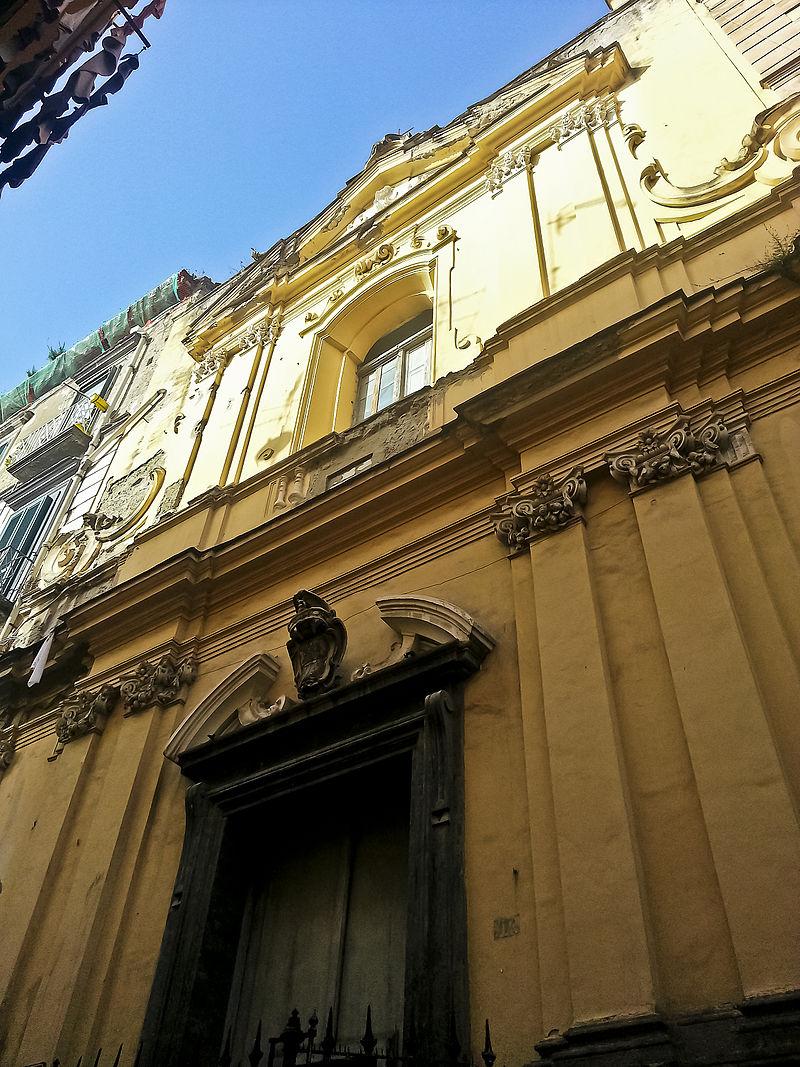 facciata Chiesa di Santa Maria Maddalena delle Convertite Spagnole