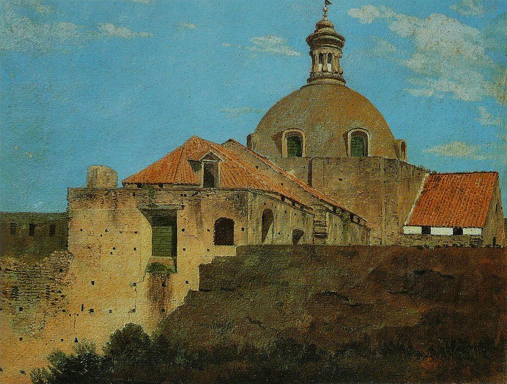 Chiesa di Santa Maria a Cappella Nuova in un dipinto di Thomas Jones