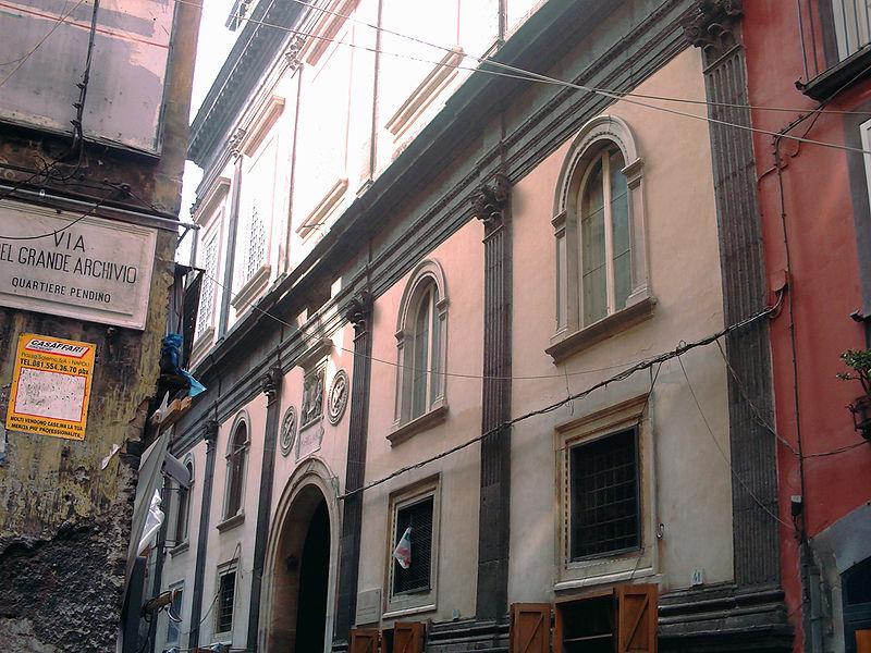 facciata palazzo marigliano a Napoli