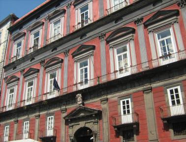 facciata palazzo saluzzo di corigliano napoli