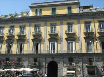 facciata palazzo del cardinale zapata a napoli