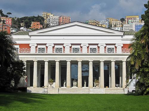 facciata villa pignatelli acton a napoli